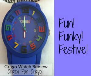 Great gift! Review of the fun and festival Crayo watch.