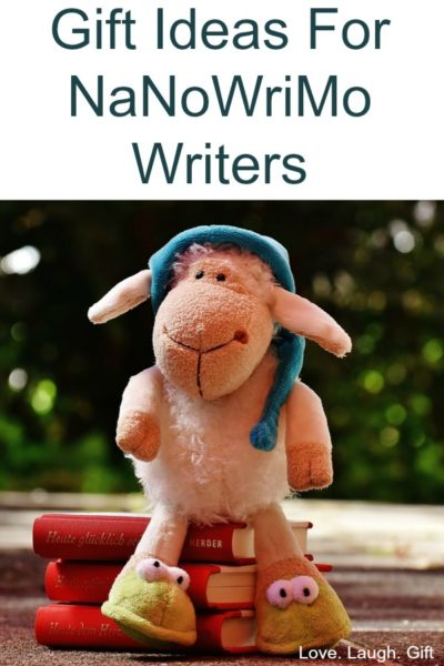 NaNoWriMo gift ideas for your favorite writing friend! Show your support and encouragement for NaNoWriMo.